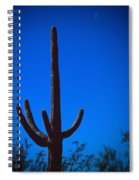 Cactus And Moon Spiral Notebook