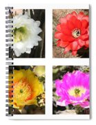 Cactus Blooms Collage Spiral Notebook