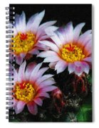 Cactus Flowers With Texture Spiral Notebook