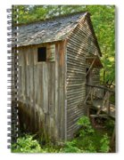Cades Cove Grist Mill Closeup Spiral Notebook