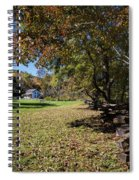 Cades Cove House And Fall Colors Spiral Notebook