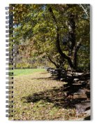 Cades Cove House And Split Rail Fence Spiral Notebook
