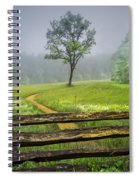 Cades Cove Misty Tree Spiral Notebook
