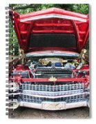 Cadillac Engine Spiral Notebook