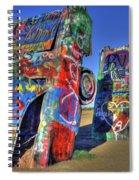 Cadillac Ranch Spiral Notebook
