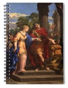 Caesar Giving Cleopatra The Throne Of Egypt, C.1637 Oil On Canvas Spiral Notebook