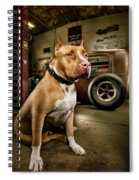 Caesar At Millers Chop Shop Spiral Notebook