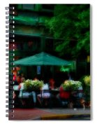 Cafe Alfresco Spiral Notebook