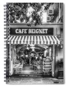 Cafe Beignet Morning Nola - Bw Spiral Notebook