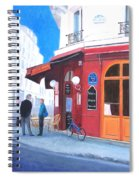 Cafe Des Musees Paris Spiral Notebook