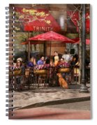 Cafe - Hoboken Nj - Cafe Trinity  Spiral Notebook