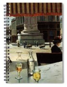 Cafe In A City Square Spiral Notebook
