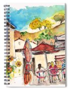 Cafe In Barca De Alva Spiral Notebook