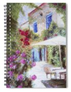 Cafe In The Spring Spiral Notebook