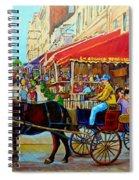 Cafe La Grande Terrasse Spiral Notebook