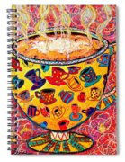 Cafe Latte - Coffee Cup With Colorful Coffee Cups Some Pink And Bubbles  Spiral Notebook