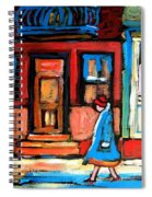 Cafe Laurier Montreal Spiral Notebook