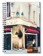 Cafe Le Barometre In Paris Spiral Notebook