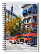 Cafe Le Champ De Mars Spiral Notebook