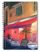 Cafe Scene Cannes France Spiral Notebook