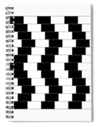 Cafe Wall Illusion Spiral Notebook
