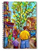 Cafes In Springtime Spiral Notebook