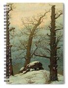 Cairn In Snow Spiral Notebook