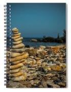 Cairn On Lake Michigan Spiral Notebook