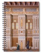 Cairo Interior Of The Mosque Spiral Notebook
