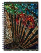 Cajun Accordian - Bordered Spiral Notebook