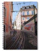 Calcada Da Gloria Street In Lisbon Spiral Notebook