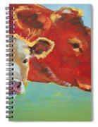 Calf And Cow Painting Spiral Notebook