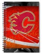 Calgary Flames Christmas Spiral Notebook