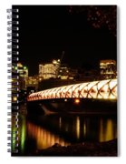 Calgary's Peace Bridge Spiral Notebook