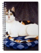 Calico Cat Portrait Spiral Notebook