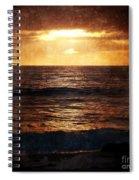 California Grunge Sunset Spiral Notebook