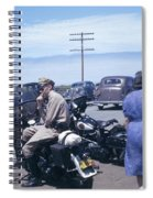 California Highway Patrol Harley Davidson Circa 1948 Spiral Notebook