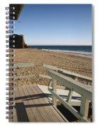 California Lifeguard Shack At Zuma Beach Spiral Notebook
