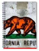 California State Flag Weathered And Worn Spiral Notebook