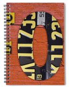 California State Name In License Plates Art Spiral Notebook