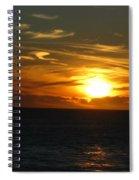 California Winter Sunset Spiral Notebook