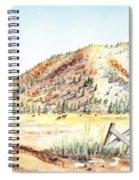Californian Landscape Saint John Ranch Bald Mountain View Shasta County Spiral Notebook