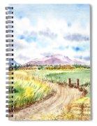 Californian Landscape Saint Johns Ranch Of Mountain Shasta County Spiral Notebook