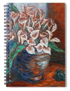 Calla Lilies And Frog Spiral Notebook
