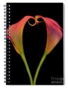 Calla Lillies Kissing Spiral Notebook