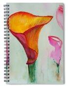 Calla Lilly Spiral Notebook