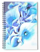 Calla Lilly So Soft Lilac And Blue Spiral Notebook