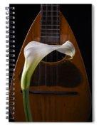 Calla Lily And Mandolin Spiral Notebook