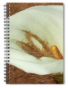 Calla Lily Gold Leaf Spiral Notebook