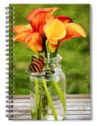 Calla's And The Butterfly Spiral Notebook